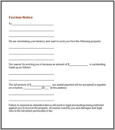 eviction notice template alberta free section 21 eviction notice template free template
