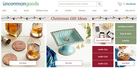 best websites for unique christmas and holiday gifts