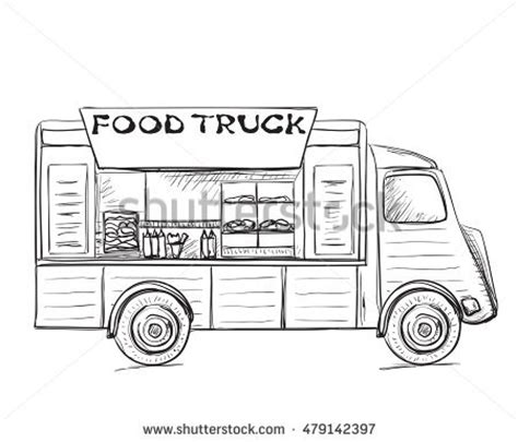 food truck coloring page food truck line drawing www pixshark com images