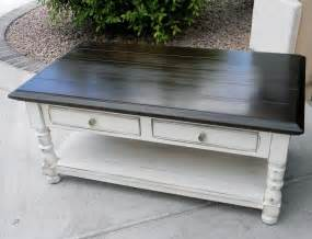 Little bit of paint refinished coffee table