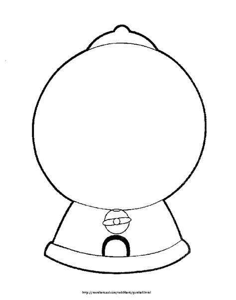 free a gumball machine coloring pages