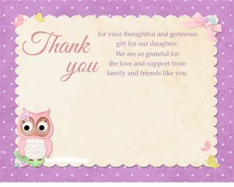 Thank You Card Baby Gift - thank you card message for gift card pinterest messages