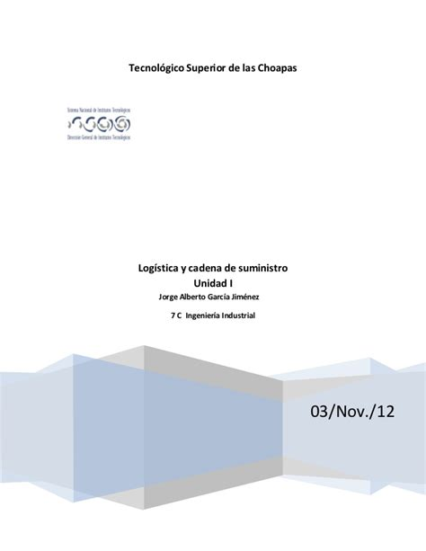 cadena de suministro unidad 4 unidad 1 logistica y cadena de suministro