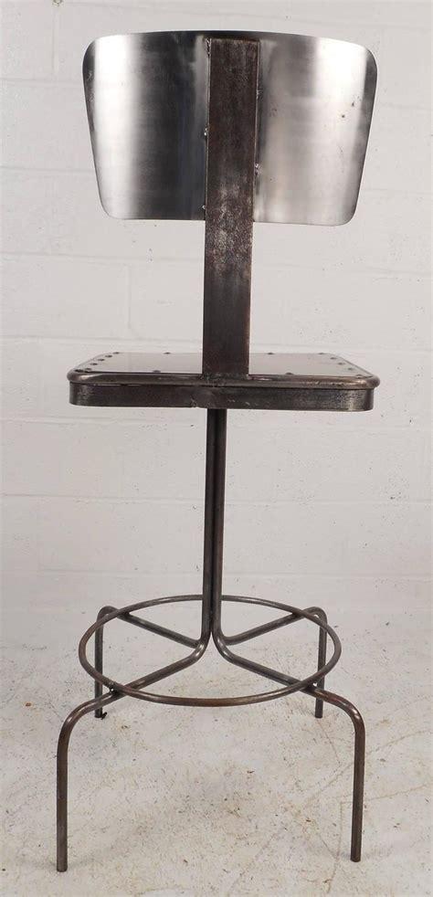 Vintage Industrial Bar Stool Vintage Industrial Metal Bar Stool For Sale At 1stdibs