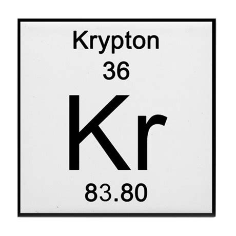 Housewarming by Periodic Table Krypton Tile Coaster By Science Lady
