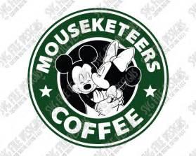 mickey minnie mouse starbucks logo svg cut file