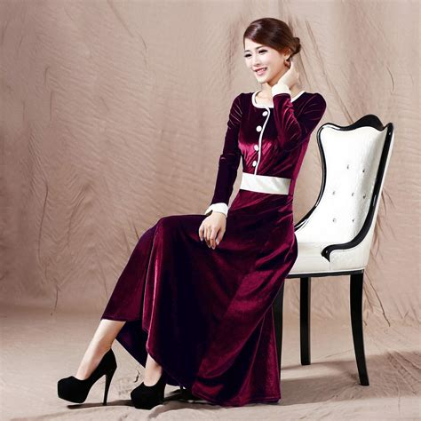 dress design velvet aliexpress com buy 2015 spring noble long design slim