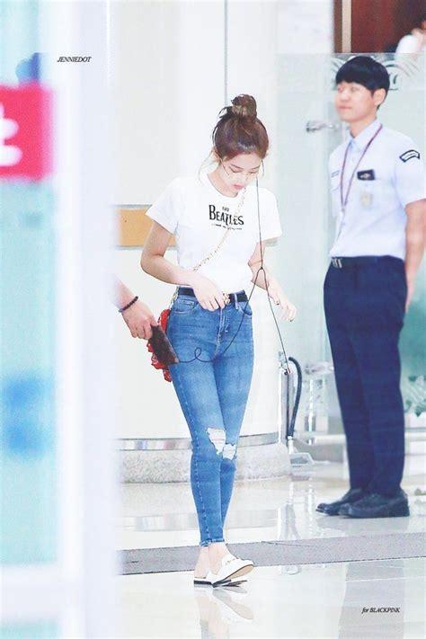 blackpink fashion airport jennie blackpink outfits pinterest blackpink korean