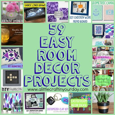 easy diy decor 59 easy diy room decor projects a craft in your day