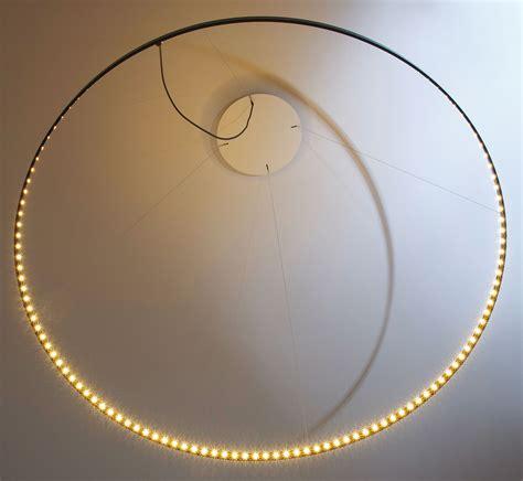 Led Circle Light by Suspension Circle Led 216 80 Cm Noir Le Deun