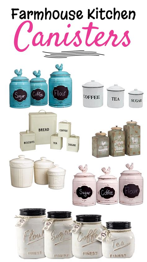 what to put in kitchen canisters farmhouse kitchen canister sets and farmhouse decor ideas