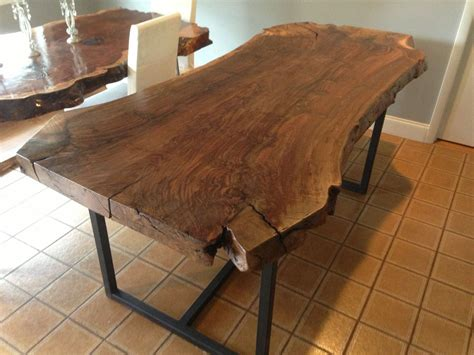 Live Edge Kitchen Table Handmade Live Edge Claro Walnut Dining Table By Ozma Design Custommade