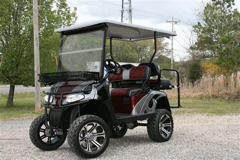 Floor Mats For Golf Carts by E Z Go Rxv Burgundy Black Silver Lifted Custom Golf Cart