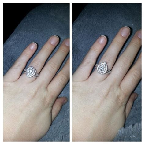 which way do you wear wedding rings question how are you supposed to wear a pear shaped ring