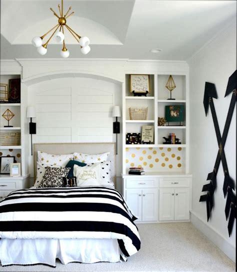 chambre fille chambre ado fille noir et blanc