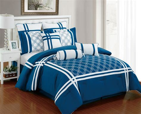 White And Blue Bedding by 9 Nelson Blue And White Comforter Set Ebay