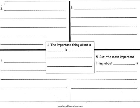 4 square writing template 5 best images of the important book printables the