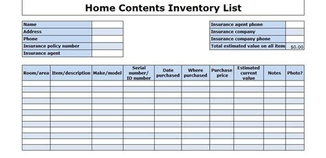 Office Equipment Office Equipment Inventory List Office Supply Inventory Template Free