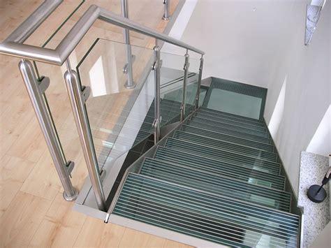 Edelstahl Treppe by Bartz Metallbau Treppe Glastreppe Aus Edelstahl Und