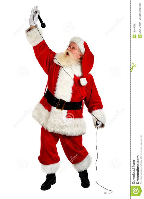 santa singing royalty free stock images image 12145029