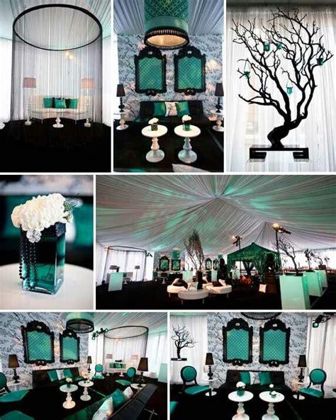 black and teal wedding ideas wedding decorations