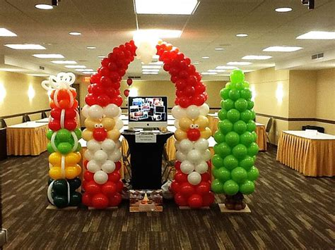 christmas party balloons balloon decor pinterest