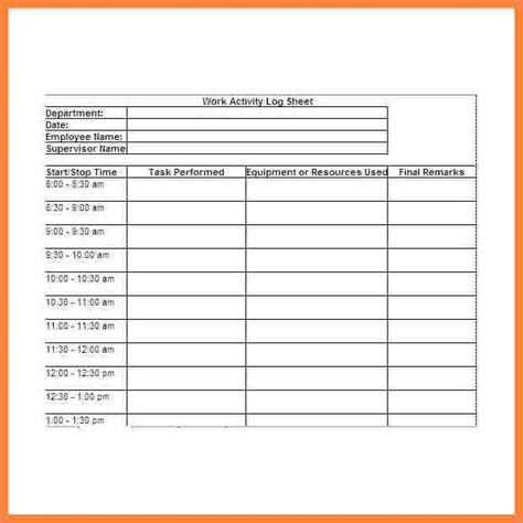 work report template 9 daily work report template bussines 2017