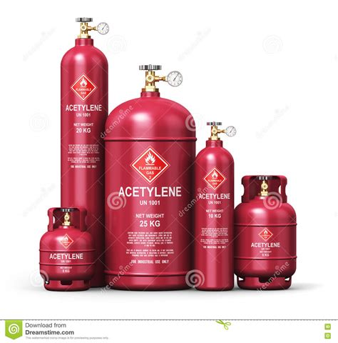 high purity compressed gas cylinder lng acetylene storage cylinder row of liquefied acetylene industrial gas containers royalty free cartoondealer