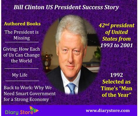 Quote Of The Day Bill Clinton On Americas Obsession With Dirt Second City Style Fashion by Bill Clinton Us President Success Story Motivational Quotes