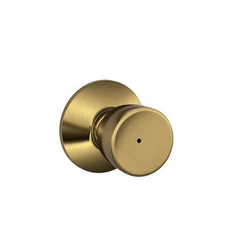 Knob Button by Shop Schlage F Bell Antique Brass Push Button Lock