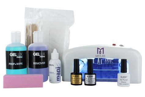 best gel nail polish with uv light professional gel polish nail starter kit shellac bluesky