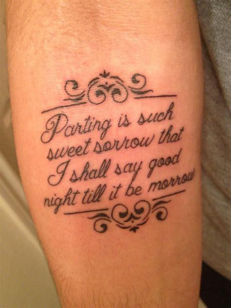 shakespeare tattoos shakespeare romeoandjuliet tattoooooosss