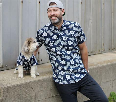 Matching Print Shirt matching hawaiian print shirts for dogs humans milk