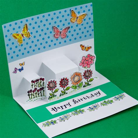how to make a green card step pop up cards greeting card ideas s crafts