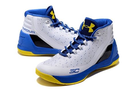 armour basketball shoes stephen curry armour stephen curry 3 white blue yellow basketball