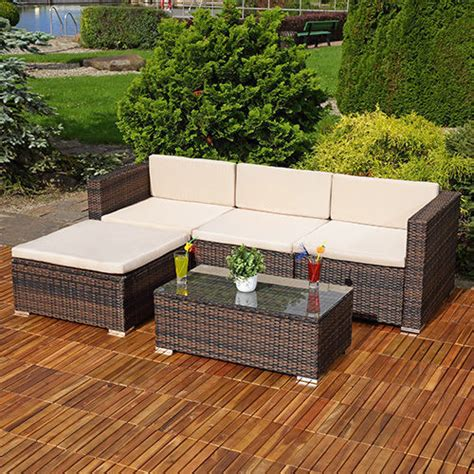 table home living outdoor garden conservatory rattan garden furniture corner sofa set lounger table
