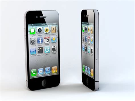 apple iphone 4 3d model 3ds max files free modeling 46916 on cadnav