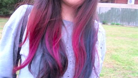 my pink blue ombre hair