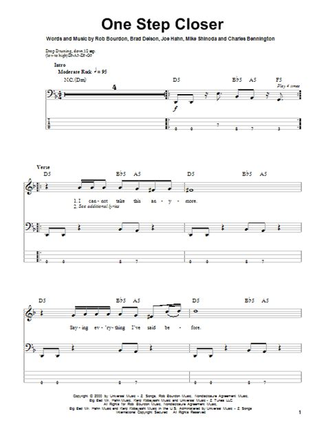 download mp3 song one step closer by linkin park one step closer bass guitar tab by linkin park bass