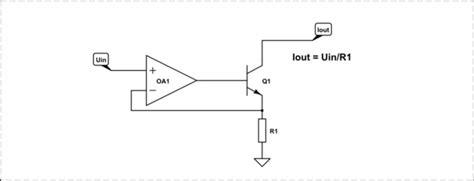 resistor voltage to current converter transistors emitter resistor why electrical engineering stack exchange