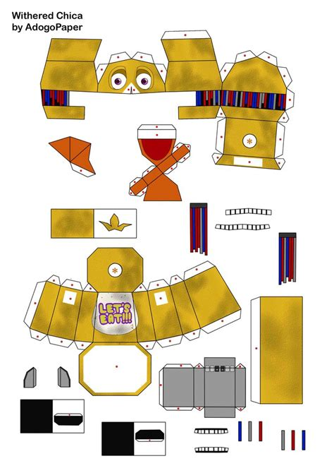 Big Papercraft - five nights at freddy s 2 chica papercraft pt1 by