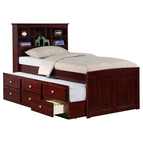 Bunk Beds Glasgow Glasgow Bookcase Trundle Bed Drawers Cappuccino Dcg Stores