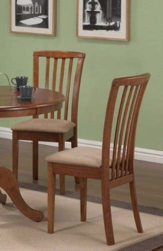 Microfiber Dining Room Chairs Set Of 2 Dining Chairs Microfiber Fabric Oak Finish