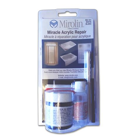 bathtub repair kit mirolin tub shower repair kit gelcote international
