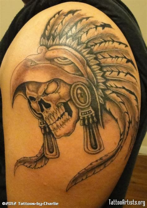 aztec warrior tattoo aztec warrior skull aztec warrior skull by tattoos by