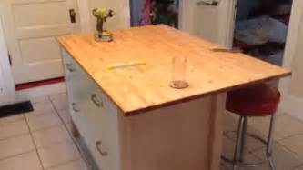 Ikea Hack Kitchen Island ikea varde four drawer kitchen island assembly tutorial