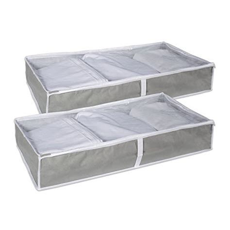 grey under bed storage bag the container store 2 under the bed closet soft storage bag clear plastic
