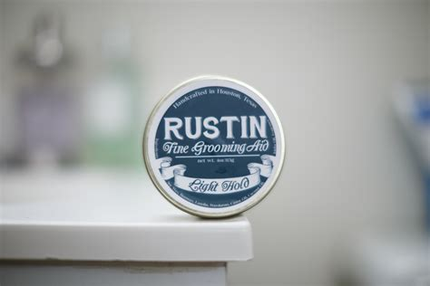 Rustin Classic Hold Pomade rustin light hold pomade review the pomp