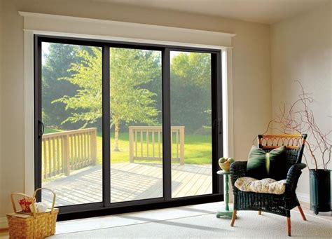 3 Panel Sliding Patio Doors Pin By Bailey Haidamous On Modern Windows
