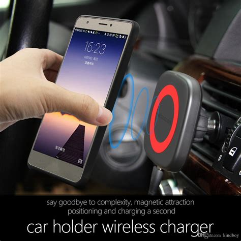 magnetic qi wireless car charger mount cell phone air vent magnet car cradle charging holder